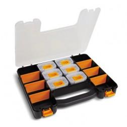 kunststof koffer met 6 uitneembare doosjes