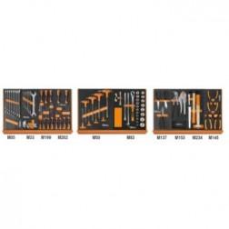 5904VU/1M Assortiment van 91 gereedschappen voor universeel gebruik in voorgevormde EVA foam inlegbakken