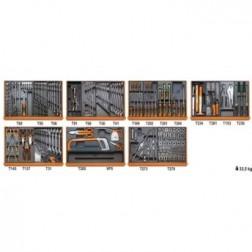 5908VI/2T Assortiment van 232 gereedschappen voor industrieel onderhoud in voorgevormde ABS inlegbakken