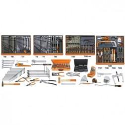 5910VI/3T Assortiment van 261 gereedschappen voor industrieel onderhoud in voorgevormde ABS inlegbakken