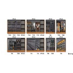 210-delige gereedschapset in 8 inlegbakken voor algemeen onderhoud