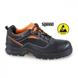 Volnerf leren schoen, waterafstotend, met versterkte polyurethaan neus bescherming en PU/TPU VIBRAM® loopzool. ESD