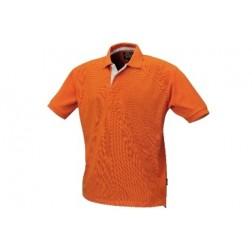 polo shirt 100% katoenen piqué oranje