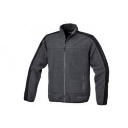 fleece jas gijs/zwart
