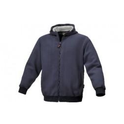 blauwe sweater met capuchon