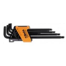 8 Torx sleutels met kogelkop