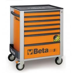 C24SA gereedschapswagen met 7 laden en omvalbeveiliging