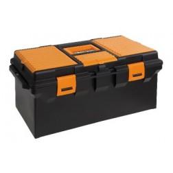 lange gereedschapskoffer met inlegbak en vakken