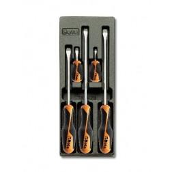 5 schroevendraaiers 4 6½ 8 10(2) mm